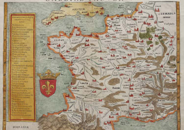 EARLY MUNSTER MAP OF FRANCE FOLIO  1545