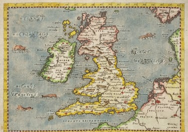 MAGINI MAP OF BRITISH ISLES  PETRUS KESCHEDT  EDITION