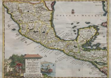 MEXICO HONDURAS  GAUTAMALA   VAN DER AA   1713