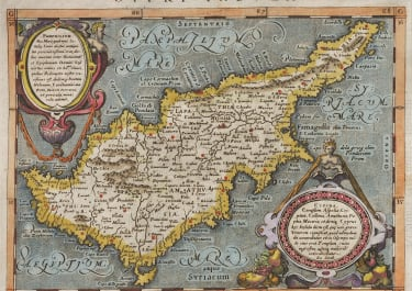 MAGINI STUNNING MAP OF CYPRUS AFTER ORTELIUS ...1597