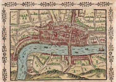 SCARCE SAUR MAP OF LONDON