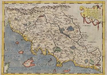 MAGINI'S SIXTEENTH CENTURY MAP OF TUSCANY  1597