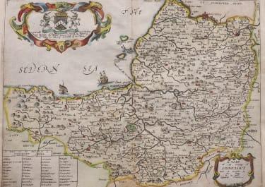 RICHARD BLOME'S MAP OF SOMERSET 1673