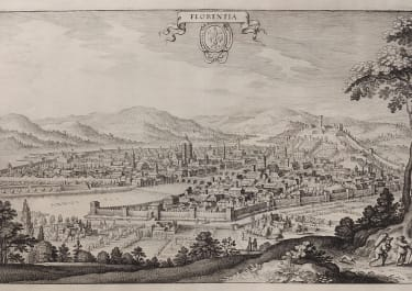 FLORENCE  MERIAN'S SEVENTEENTH CENTURY VIEW OF FLORENCE