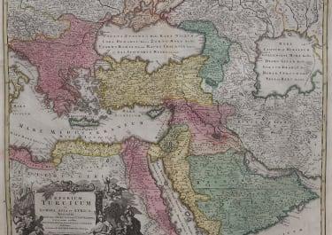 HOMANN'S MAP OF THE TURKISH EMPIRE ORIGINAL COLOUR 1720