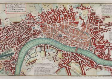 THOMAS & JOHN BOWLESBOWLES SCARCE MAP OF LONDON 1740