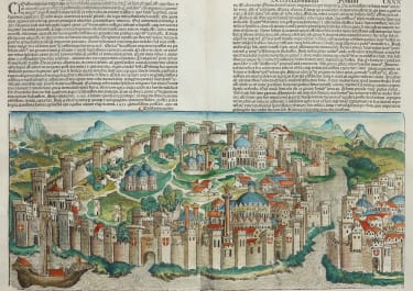 SCHEDEL'S SUPERB 1493 PANORAMA OF CONSTANTINOPLE MINT