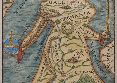EUROPA REGINA  MUNSTER SOUGHT AFTER MAP 1588