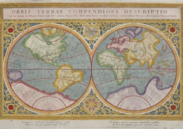 SUPERB REDUCED MERCTOR'S FAMOUS 1569 WORLD MAP BY PORRO & MAGINI