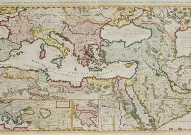CHATELAIN'S SUPERB WALL MAP OF THE OTTOMAN EMPIRE 1719