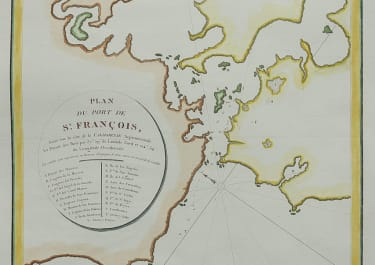 EARLY MAP OF THE BAY OF SAN FRANCISCO BY LA PEROUSE 1797