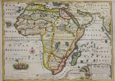 DE FER DECORATIVE MAP OF AFRICA 1717