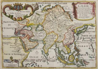 DE FER  DECORATIVE MAP OD ASIA 1717