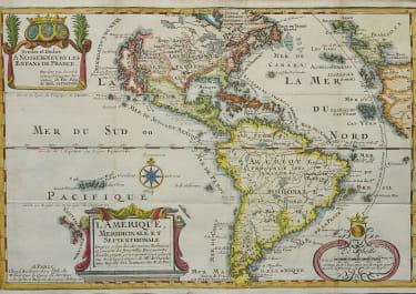 DE FER'S SOUGHT AFTER 1717 MAP OF THE AMERICAS