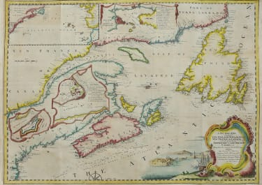 NORTH EAST CANADA BY BELLIN CHART DEDICATED TO BRITISH MERCHANTS TRADING IN NORTH AMERICA