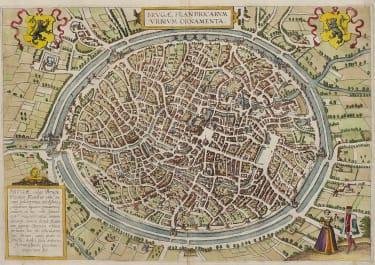 BRUGES  BRAUN & HOGENBERG 1572