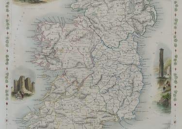 TALLIS MAP OF IRELAND