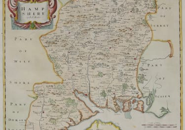 MORDEN'S MAP OF HAMPSHIRE 1695