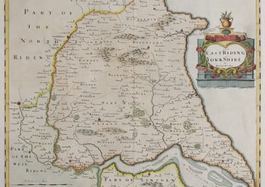 MORDEN MAP OF EAST RIDING OF YORKSHIRE  1695