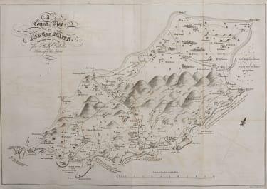 SCARCE MAP OF ISLE OF MAN BULLOCK 1816