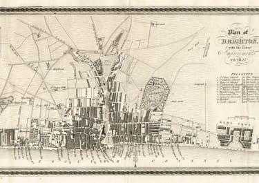 PLAN OF BRIGHTON ENGLAND  RARE 1827