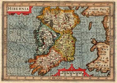 BERTIUS MAP OF IRELAND 1618