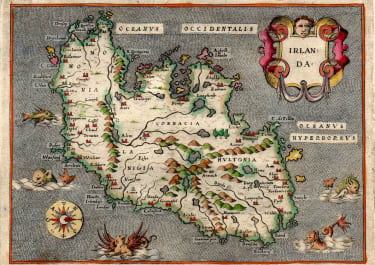PORCACCHI PORRO MAP OF IRELAND