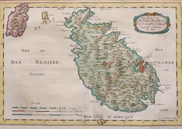 SANSON'S MAP OF MALTA