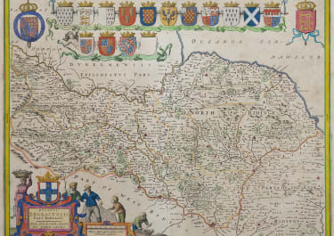 BLAEU MAP OF NORTH RIDING OF YORKSHIRE