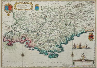 BLAEU  JANSONNIUS MAP OF PROVENCE