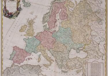 VAUGONDY FOLIO MAP OF EUROPE   1757