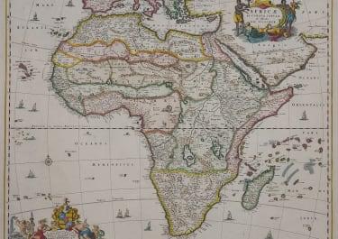 VISSCHER'S SUPERB FOLIO MAP OF AFRICA