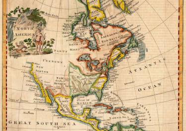 THOMAS JEFFERYS  MAP OF NORTH AMERICA  1774