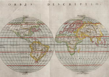 EARLY RUSCELLI WORLD MAP 1561  1574