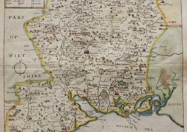 BLOME'S MAP OF HAMPSHIRE