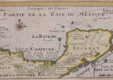 MAP OF YUCATAN   DAMPIER'S VOYAGE