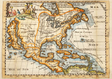SUPERB MAP OF NORTH AMERICA  CALIFORNIA AS LARGE ISLAND 1706