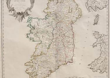 VAUGONDY  FOLIO MAP OF IRELAND 1750