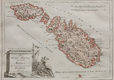 SCARCE MAP OF MALTA BY REILLY 1789  ORIGINAL COLOUR