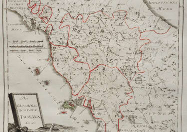 TUSCANY  DETAILED MAP BY REILLY 1789