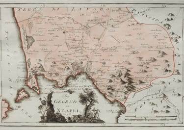 SCARCE MAP OF NAPLES  BAY OF NAPLES   REILLY 1789