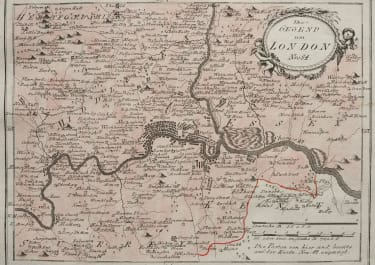 LONDON  DETAILED MAP BY REILLY 1789