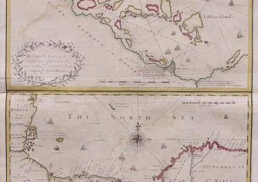 SENEX RARE MAP OF SCOTLAND'S SETTLEMENT IN CENTRAL AMERICA  NEW EDINBURGH  1721