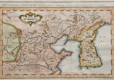 BELLIN'S MAP OF KOREA AND NORTHERN CHINA