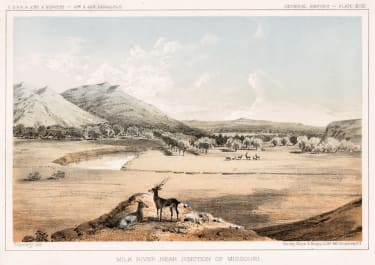 MILK RIVER MONTANA U.S. PACIFIC RAILWAY EXPEDITION 1857