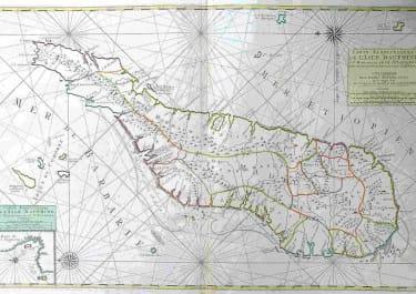 MADAGASCAR CARTE PARTICULIERE DE L'ISLE DAUPHINE OU MADAGASCAR ET ST LAURENS
