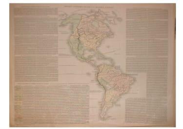 MAPPEMONDE HISTORIQUE & THE 4 CONTINENTS SET OF 5 MAPS