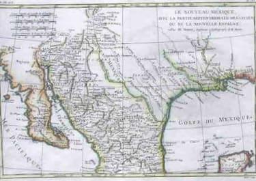 (MEXICO CALIFORNIA TEXAS)LE NOUVEAU MEXIQUE NOUVELLE SPAIN