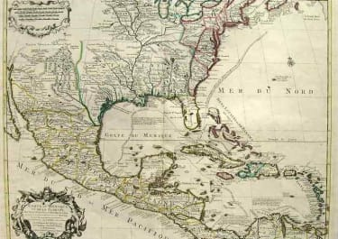 (NORTH AMERICA WEST INDIES) CARTE DU MEXIQUE ET DE LA FLORIDE