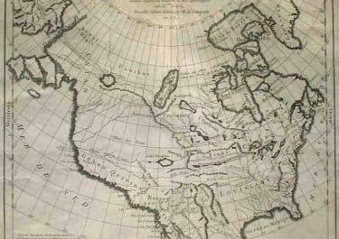 Cartes des Parties Nord et Ouest de L'Amerique dressee d'apres les relations les plus authentiques par M en 1764